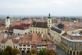 Sibiu in romania aerial view of a city Stock Images