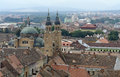 Sibiu in romania aerial view of a city Royalty Free Stock Photography