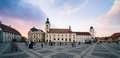 Sibiu romania image taken in the central square of Royalty Free Stock Images