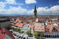 Sibiu seen from Council Tower Stock Photos