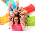 Siblings giving thumbs up Royalty Free Stock Photography