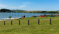 Siblyback lake bodmin moor cornwall england uk near liskeard where people enjoy sailing and water sports Stock Images