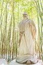 SICHUAN, CHINA - Mar 28 2015: Pang Tong Statue at Zhaohua Ancien Royalty Free Stock Photo
