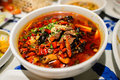 Sichuan style spicy food Royalty Free Stock Photo