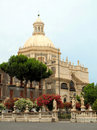 Sicilian baroque church Stock Photos