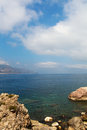 Sicilian coast ionian sea ner taormina sicily Stock Photography