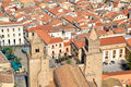Sicilian town roofs Royalty Free Stock Photo