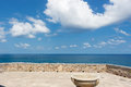 Sicily, Cefalu, terrace overlooking the sea Royalty Free Stock Photo