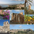 Sicily collage Stock Images