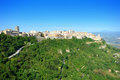 Sicily highlands, Enna city, Sicily, Italy Royalty Free Stock Photo