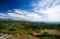 Sicily inland landscape as seen from the circumetnea train Royalty Free Stock Images