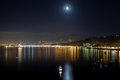 Sicily night picture in with etna volcano in background Stock Photo