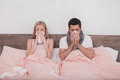 Sick Couple Together Feeling Unwell Concept Royalty Free Stock Photo