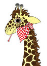 Sick giraffe cartoon Stock Photo