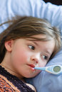 Sick Girl With Fever Royalty Free Stock Photo