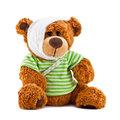 Sick plush toy isolated on white background Stock Images