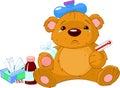 Sick Teddy Bear Royalty Free Stock Photo