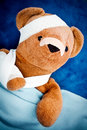 Sick teddy bear Royalty Free Stock Photos