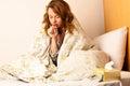 Malato donna tosse letto