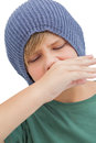 Sick young boy Royalty Free Stock Photo
