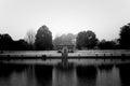 Siddhapokhari pond of bhaktapur nepal the black and white shot Royalty Free Stock Photos