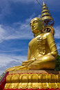 Side of biggest image of buddha In wat Phrataddoitae Royalty Free Stock Photo