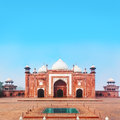 Side building of taj mahal in agra one the javab complex india Royalty Free Stock Images