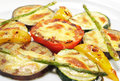 Side Dishes - Grilled Vegetables Royalty Free Stock Photos