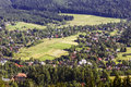 Side district of zakopane seen from above Royalty Free Stock Photography