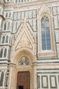 Side door of the cathedral of brunelleschi in florence tuscany italy Royalty Free Stock Photos