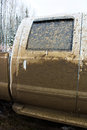 Side door of a truck that has been mud bogging