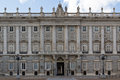 Side entrance of Palacio Real Royalty Free Stock Photos
