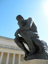 Side front profile of the masterpiece the Thinker by Rodin Royalty Free Stock Photo