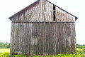 Side of Gray Rustic Weathered Tall Barn Royalty Free Stock Photo