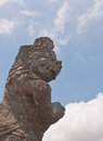 Side half body portrait of Balinese God statue Stock Photography