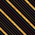 Side line stripe golden glitter seamless pattern