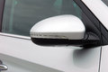 Side mirror with turn signal of a car Royalty Free Stock Photo