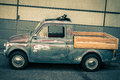 Side of Old Scratched Fiat Truck-Vintage Style Royalty Free Stock Photo