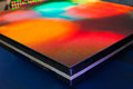 Side of the panel rainbow colored LED screen Royalty Free Stock Photo