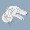 Side portrait of Saluki dog in paper cut style Royalty Free Stock Photo
