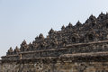 Side profile of Borobudur temple, Java, Indonesia Royalty Free Stock Photo
