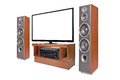 Side shot of home cinema system Royalty Free Stock Photo