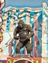 Side show animated gorilla at a carnival Stock Photos