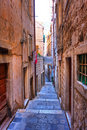 Side street in Dubrovnik Royalty Free Stock Photography