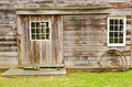 Side of unpainted barn Stock Photo