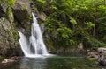 Side View of Bash Bish Falls Royalty Free Stock Photo