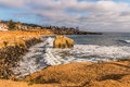 Side View, Bird Rock at Sunset Cliffs in San Diego Royalty Free Stock Photo