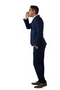 Side view of businessman shouting Royalty Free Stock Photo