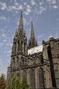 Side View of the Cathedral of Clermont-Ferrand Stock Image
