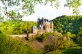 Side view of Eltz castle from the forest Royalty Free Stock Photo